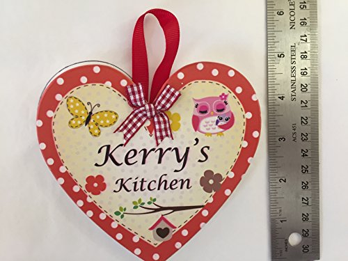Heart Shaped Wooden Personalised Kitchen Hearts.
