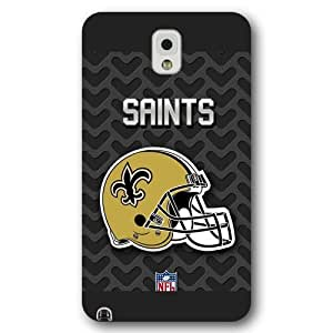 UniqueBox Customized NFL Series Case for Samsung Galaxy Note 3, NFL Team New Orleans Saints Logo Samsung Galaxy Note 3 Case, Only Fit for Samsung Galaxy Note 3 (Black Frosted Shell)