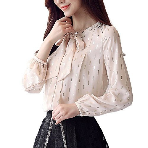 Totoci Women's Hollow Out Design with Lace Crochet Elegant Long Sleeve Trim Blouse