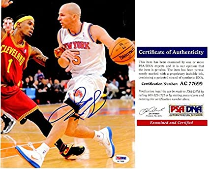 39017e18a108 Image Unavailable. Image not available for. Color  Jason Kidd Autographed  Signed New York Knicks 8x10 ...