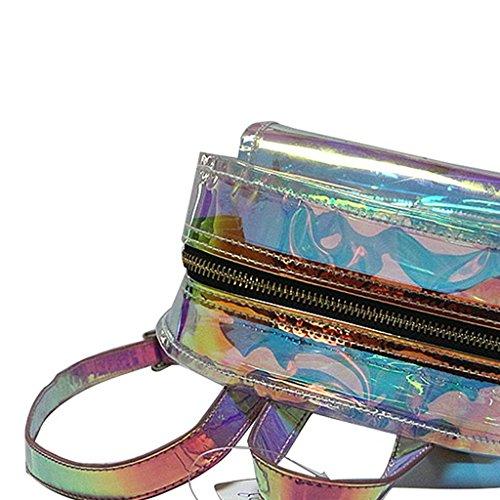 Tyjie Women Backpack Korean Transparent Travel Waterproof Shoulder School Bag by Tyjie (Image #3)