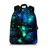Best Back To School Backpacks - Galaxy Space Print Durale Kids Canvas Bookbag Back Review