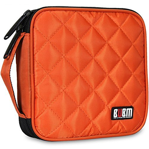 32 Capacity CD / DVD Wallet, 230D Space Twill Cover, Various Colors - Orange