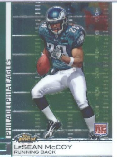 (2009 Topps Finest Football Rookie Card #95 LeSean McCoy Philadelphia Eagles Shipped In Protective ScrewDown Display Case!)