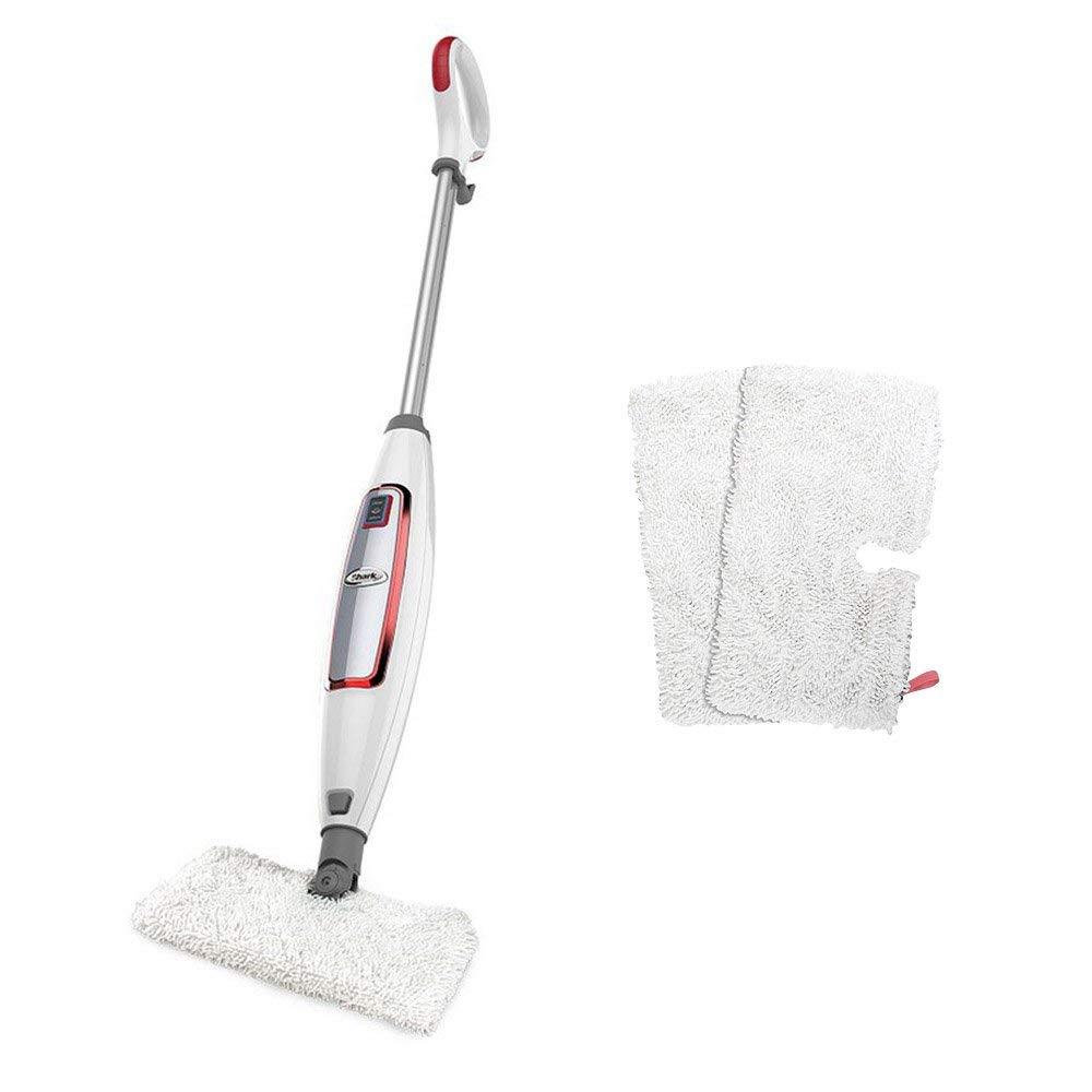 Shark Digital 2-Speed Steam Pocket Mop for Hard Floors, White and Red   S3455K (Renewed)