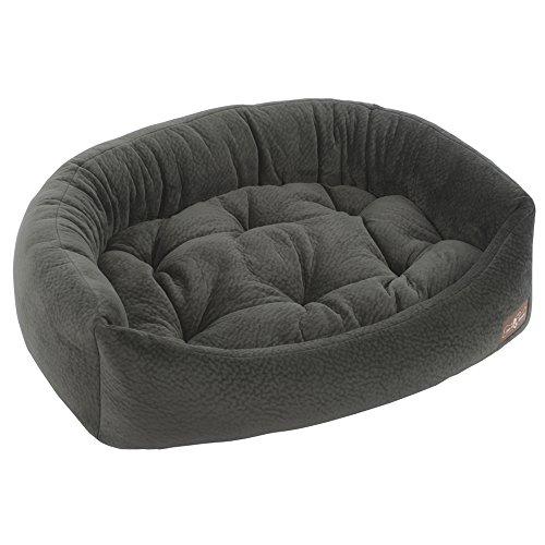 - Jax and Bones  40 x 32 x 12-Inch Ripple Velour Napper Dog Bed, Large, Granite