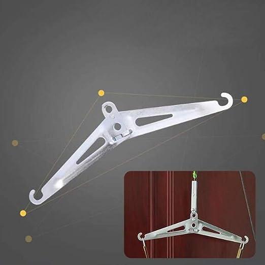 DSHUJC Dispositivo tracción Cuello Puerta Kit de tracción Ajustable Alivio del Dolor de Cabeza y Cuello Dinamómetro de trípode de Metal Apto para Todos: Amazon.es: Hogar
