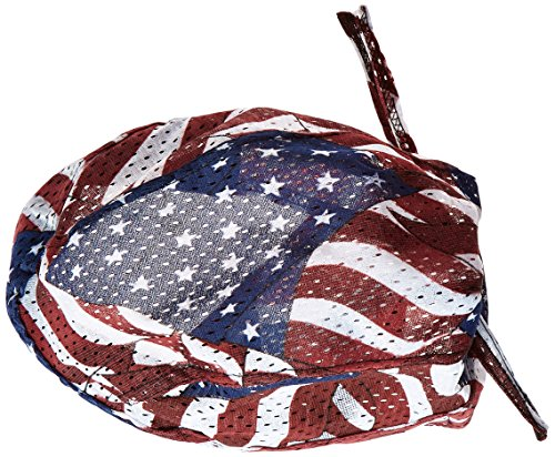Zanheadgear ZX265 Vented Flydanna Bandanna, 100% Polyester Mesh, Wavy American - Dyed Polyester Flag