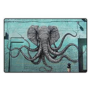 "PersonalizedShop Stylish Cute Octopus Art 23.6""x15.7"" Non-slip Top Quality Rug Doormat"