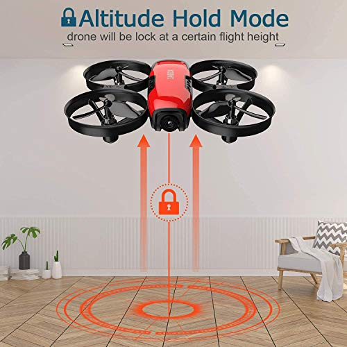SANROCK U61W Drones for Kids with 720P HD Camera, Mini Drone WiFi FPV RC Quadcopter for Beginners, Route Making…