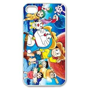 Custom Japanese manga series,anime series Doraemon iPhone 4,4S Hard Plastic Shell Case Cover White&Black(HD image)