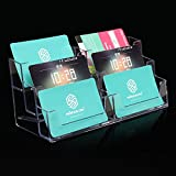 6 Pocket Acrylic Office Desk Shelf Display Business ID Card Holder