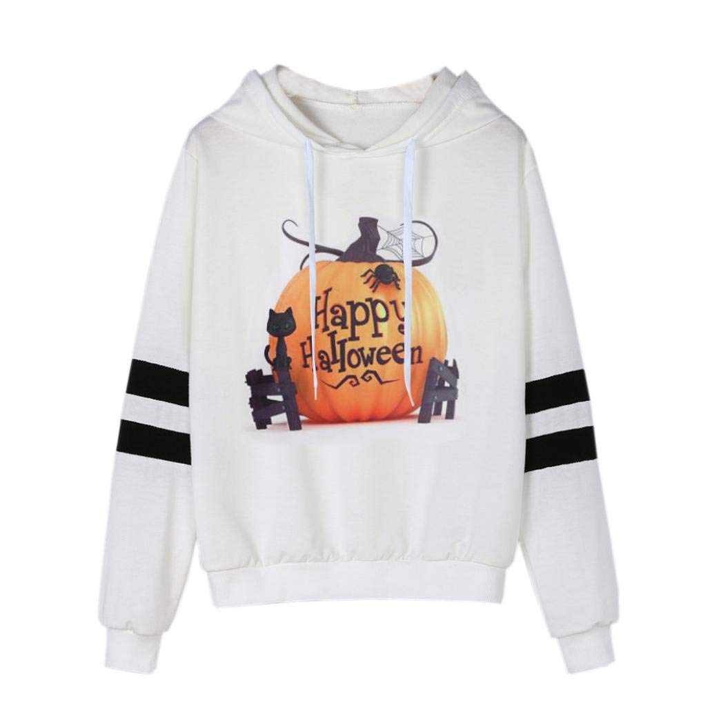 ❤️Sudadera con Capucha Halloween Mujer, Sudadera con Estampado de Manga Larga Camisa Casual con Blusa Absolute: Amazon.es: Ropa y accesorios