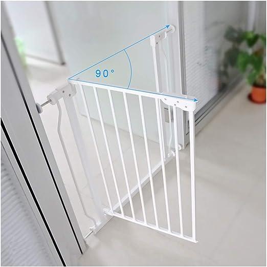ZEMIN Evitar Fuera Barrera De Seguridad Escalera Puerta for Niños Perros Proteccion No Perforando, Acero (Color : H 76cm, Size : W73~78cm): Amazon.es: Hogar