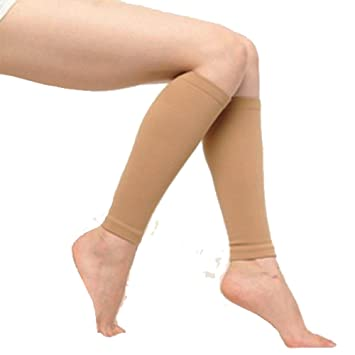 74a8d1eb71 Amazon.com: Nude Compression Calf & Shin Support Sleeves ( Set of 4 ...