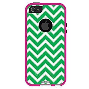 Coveroo OtterBox Commuter Series Case for iPhone 5/5s - Retail Packaging - Chevron Prints/Avon Pink