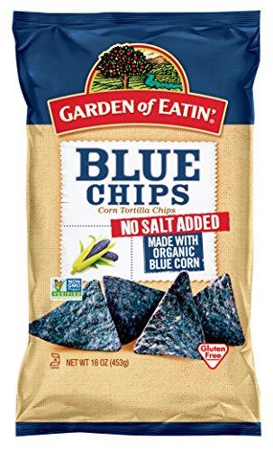 Garden of Eatin' No Salt Added Blue Corn Tortilla Chips, 16 oz. (Pack of 12)