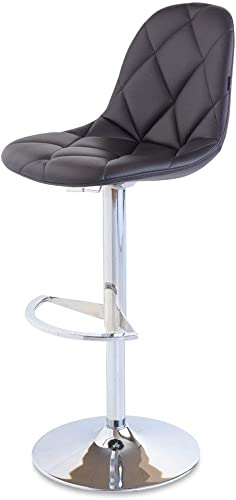 Zuri Furniture Black Romy Adjustable Height Swivel Armless Bar Stool