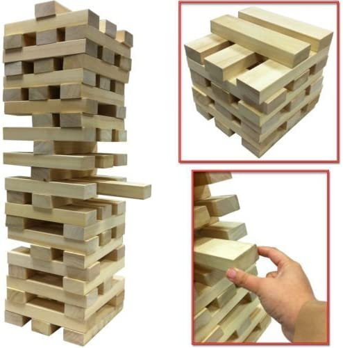 NEW GIANT WOODEN TOWER BLOCKS GAME OUTDOOR GARDEN PARTY FAMILY PUB BEACH 1.2M Tumbling / TUMBLE TOWER / Wooden Brick Block by SMART SHOPPING: Amazon.es: Juguetes y juegos