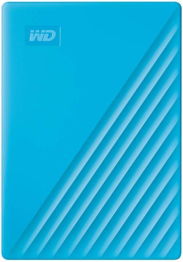 WD - My Passport 4To Bleu - Disque dur externe portable avec...