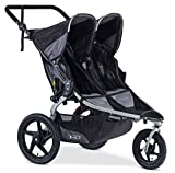 BOB Revolution Flex Duallie 2.0 Jogging Stroller - Up to 100 pounds - UPF 50+ Canopy - Adjustable Handlebar, Black