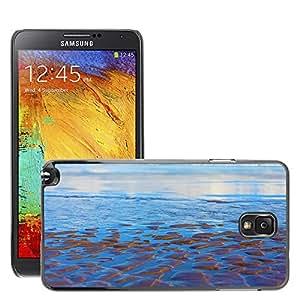 Etui Housse Coque de Protection Cover Rigide pour // M00150919 Antecedentes Beach Blue Coast color // Samsung Galaxy Note 3 III N9000 N9002 N9005