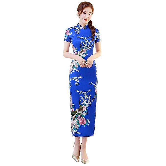 Deylaying Mujer Cheongsam Chino Vestido Qipao - Vestido de ...