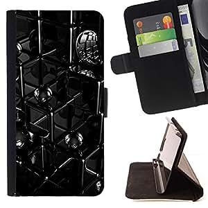 For Samsung ALPHA G850 Case , Líneas abstractas- la tarjeta de Crédito Slots PU Funda de cuero Monedero caso cubierta de piel