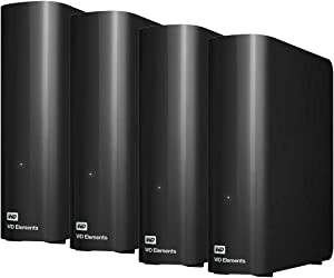 Western Digital - WD Elements 40TB (10TB x 4) Desktop Hard Drive - USB 3.0 for Laptop Desktop Windows Computer - Crypto Chia Mining - WDBWLG0100HBK-NESN