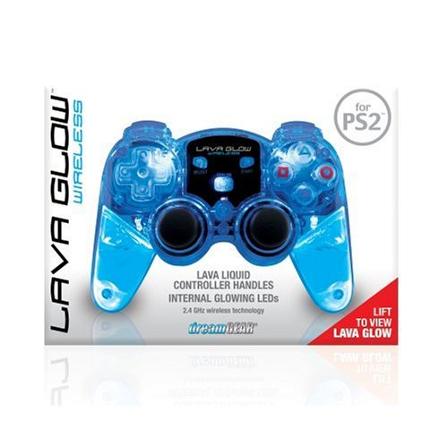- dreamgear DGPN-524 Lava Glow Mini RF Wireless Controller-Water Inside Without Rumble For PS2