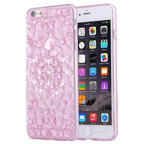 Phone Taschen & Schalen Für iPhone 6 Plus & 6s Plus Diamond verkrustete weiche TPU Schutzhülle rückseitige Abdeckung ( Color : Magenta )