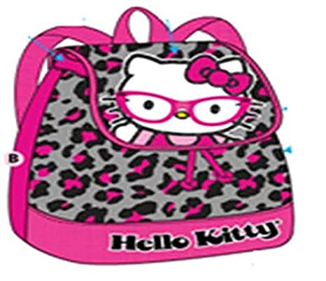 77d297e96667 Image Unavailable. Image not available for. Color: Hello Kitty Mini  Drawstring Backpack Glasses with pink leopard print
