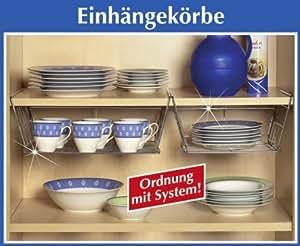 Wenko Cestas para colgar en armarios o estanterías (metal, 43,5 x 14 x 34 cm)
