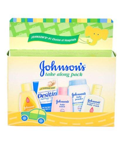 Johnson & Johnson Baby Take Along Travel Pack (Baby powder, Wash, Shampoo,