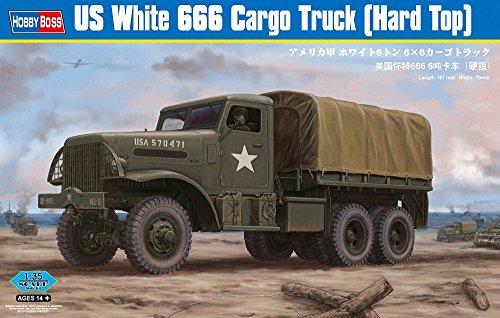Hobby Boss US White 666 Cargo Hard Top Model Kit