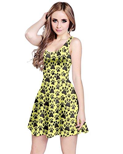 CowCow - Vestido - para mujer Light Yellow & Gray