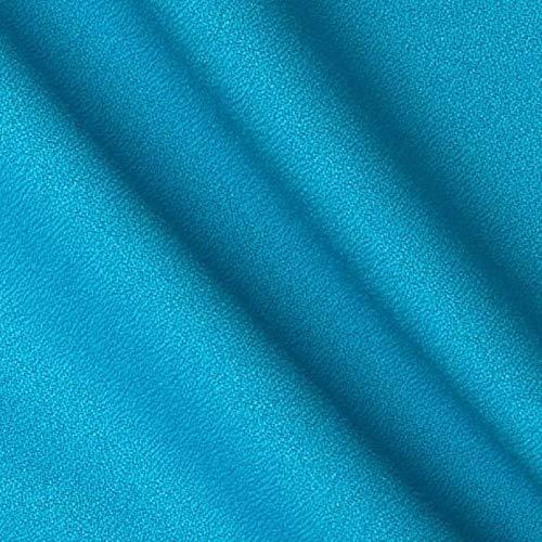 Leda Turquoise Solid Decorative Craft/Dress Making Solid Fabric