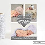 Personalised Baby Thank You Cards Birth Announcement Cards Flat or Folded Photo Baby Boy or Girl Envelopes Choice of Colour Click Customize Now for Prices