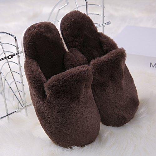 Coperta Carino Spesso Caldo Antiscivolo 41 42 40 Di adatto Donna Fondo Femminile Per Inverno 41 Casa Cxyjdtxdok Pantofole Scarpe Da Marrone Cotone Piedi vYqwZz8
