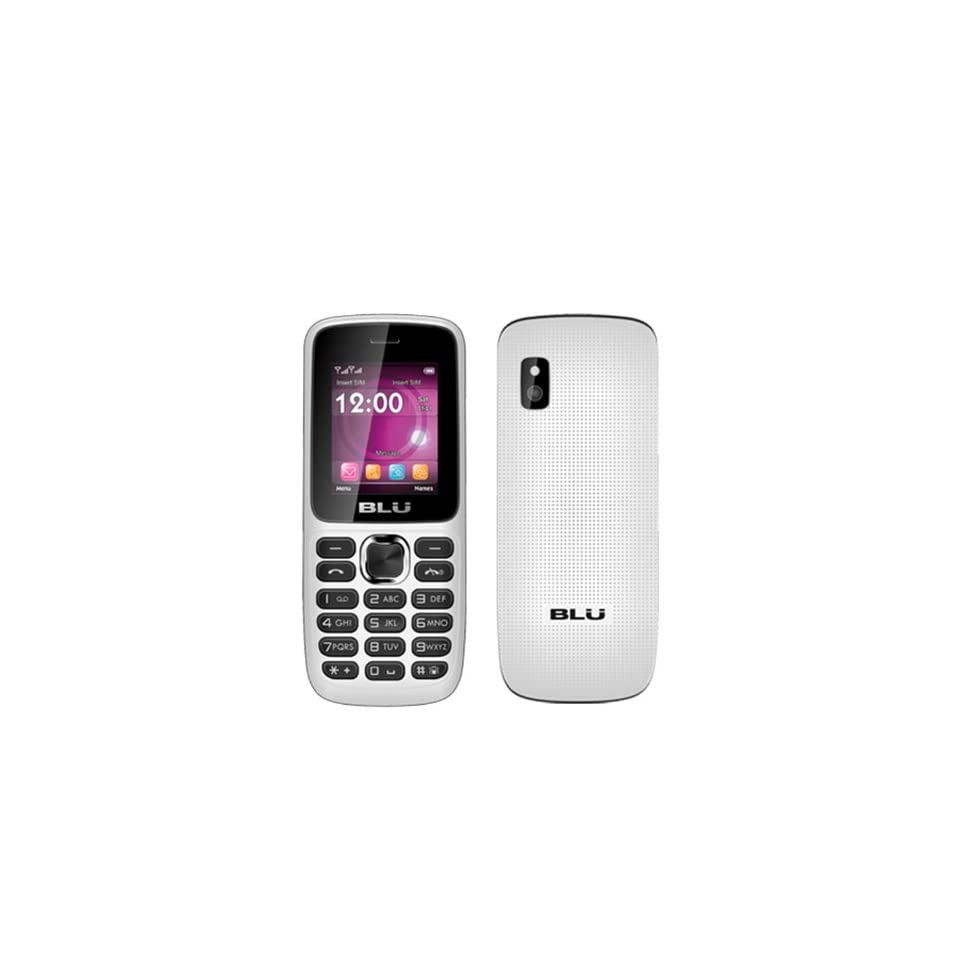 BLU Aria T174 White Unlocked GSM Dual SIM QuadBand Bar Cell Phone