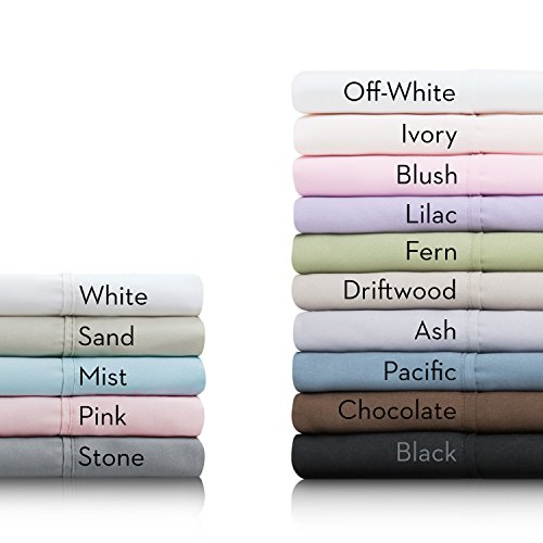 MALOUF Double Brushed Microfiber Super Soft Luxury Bed Sheet Set - Wrinkle Resistant - Queen Size - White