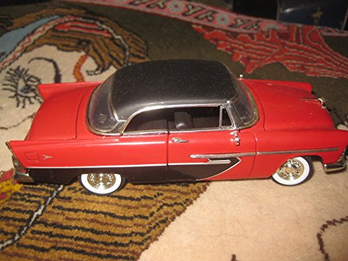 1956 Red Black Plymouth diecast car model