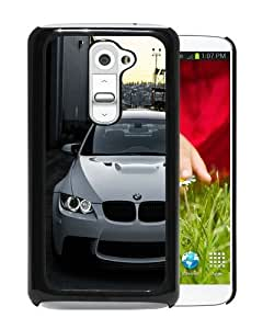 Customized Design White BMW M3 E92 Front Black Special Custom Made LG G2 Cover Case