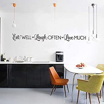 Eat Well, Laugh Often, Love Much Wall Stickers Decals Kitchen Home Decor  Dining U0026