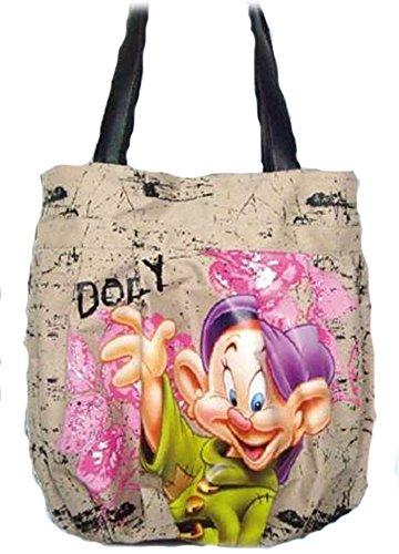 Borsa due manici in tela a sacco Cucciolo Sette Nani Walt Disney Realmente Barato Xzu0BZa