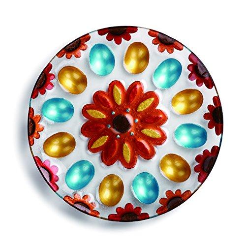 Demdaco Patterned Deviled Egg Platter, Multicolor (Deviled Eggs Unique)