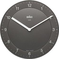Braun BNC006GYGY Classic Analog Quartz Wall Clock