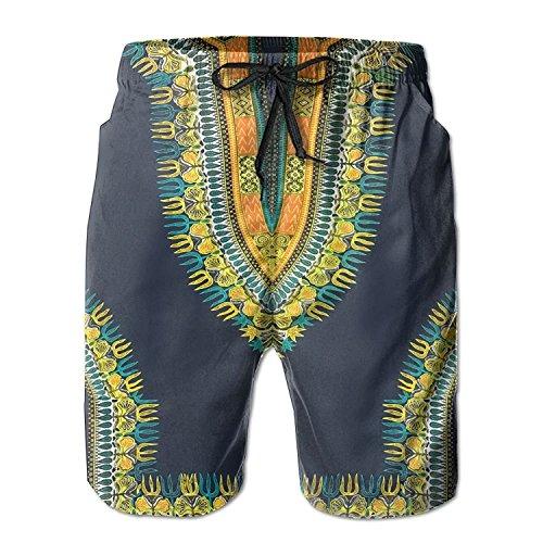 Runcati Mens African Swim Trunks Casual Tribal Beach Board Swimwear Drawstring Dashiki Print Shorts Pockets