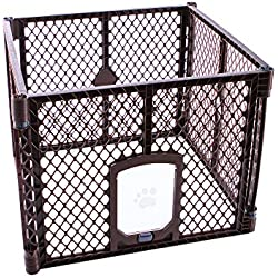 Petyard Passage, 4 Panel Pet Containment with Swinging Door