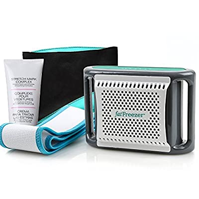 Fat Freezer Liposuction Alternative Non Surgical Complete Body Toning Kit - Lose Stubborn Belly Fat - Neoprene Belt and Cream INCLUDED